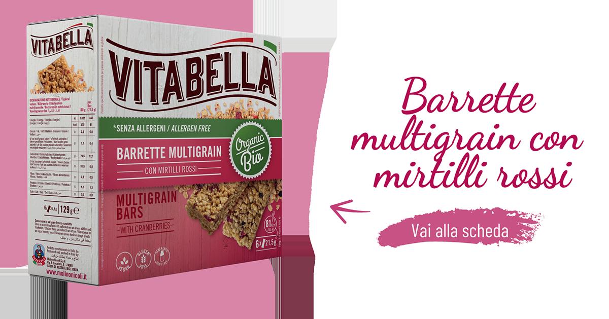 Barrette Multigrain Mirtilli Rossi Organic Bio