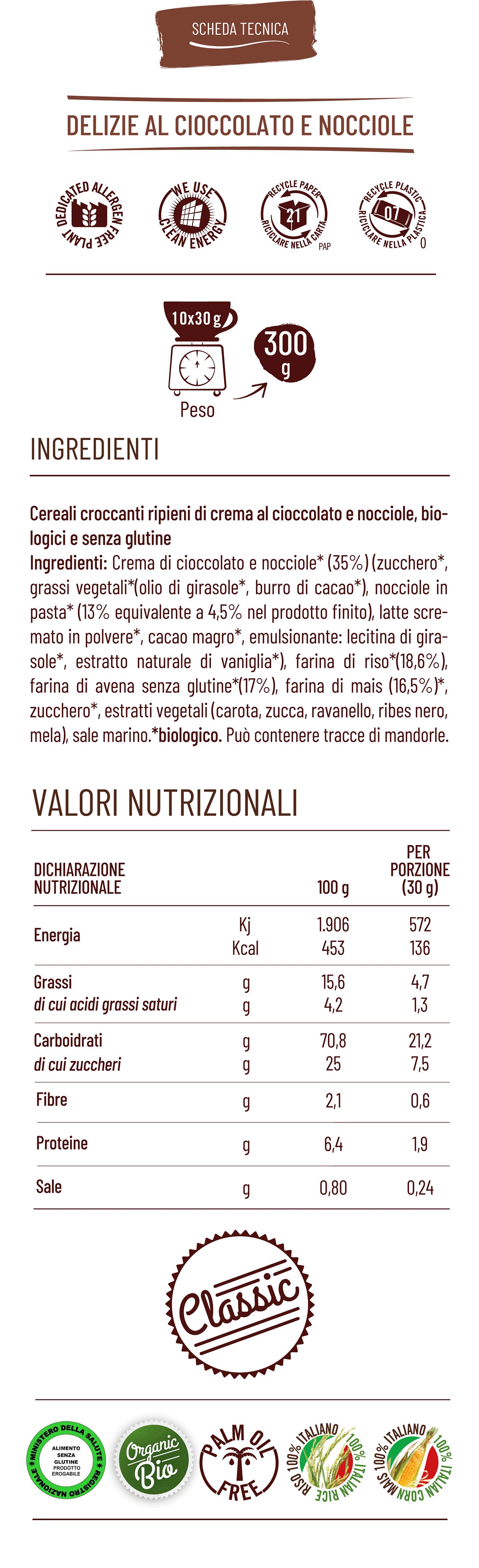 Vitabella delizie al cioccolato e nocciole